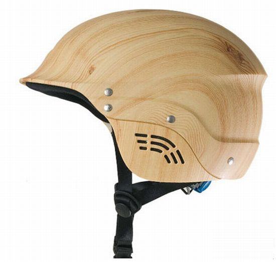 casco in legno riciclato