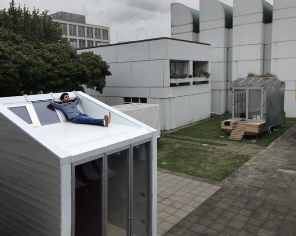 aVOID Leonardo Di Chiara on the terrace at Bauhaus Campus